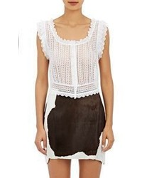 Philosophy Di Lorenzo Serafini Eyelet Crop Top White