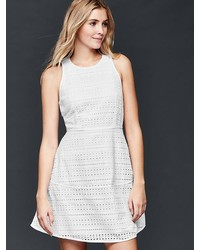 Gap Eyelet Fit Flare Dress