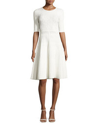 A.L.C. Grayson Eyelet Ponte Fit And Flare Dress White