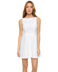 Cupcakes And Cashmere Twirl Eyelet Fit Flare Dress