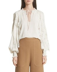 See by Chloe Eyelet Sleeve Blouse