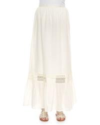 White Eyelet Maxi Skirt