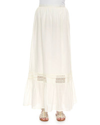 Christophe sauvat pleated voile maxi skirt medium 290692