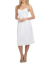 Petite aurora eyelet midi dress medium 3904316