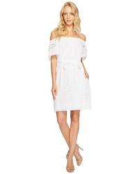 Donna Morgan Off Shoulder Dress With Eyelet Border Dress