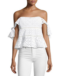 Amora off the shoulder eyelet top medium 3942812