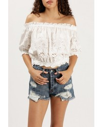 Azalea Off Shoulder Eyelet Lace Top