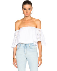 Nicholas Broderie Off Shoulder Top