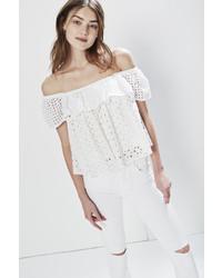 Rebecca Minkoff Celestine Top White L Size