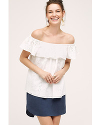 Eri Ali Eyelet Off The Shoulder Top