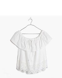Madewell Eyelet Balcony Off The Shoulder Top