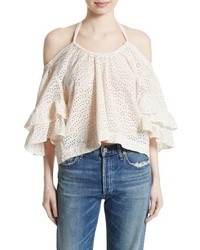 La vie eyelet cotton off the shoulder top medium 3715049