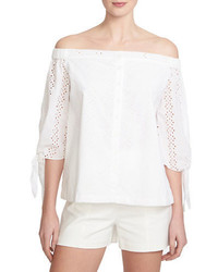 1 STATE Off The Shoulder Eyelet Top
