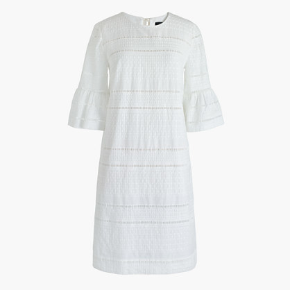 1b75c968fe3 ... J.Crew Flutter Sleeve Shift Dress In Eyelet ...