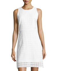 Sleeveless eyelet shift dress white medium 3756787