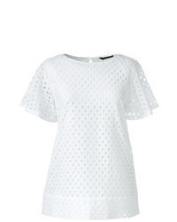 Petite short sleeve eyelet blouse white medium 4344249