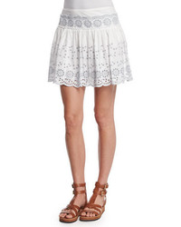 Cottonsilk eyelet mini skirt white medium 614488