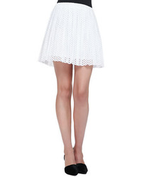 Mcq by alexander mcqueen pleated dotted eyelet skirt medium 614486