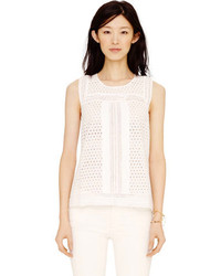 Club Monaco Effie Eyelet Top