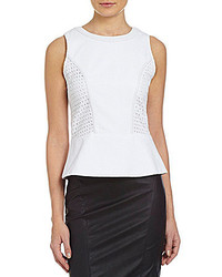 XOXO Eyelet Paneled Peplum Top