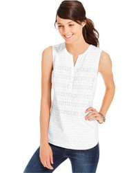 Tommy Hilfiger Eyelet Sleeveless Shell Top