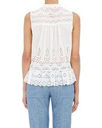 Sea Eyelet Sleeveless Top White