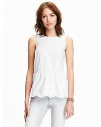 Old Navy Scallop Edge Sleeveless Tops