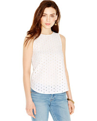 Lucky Brand Sleeveless Eyelet Blouse