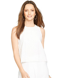 Lauren Ralph Lauren Sleeveless Eyelet Top