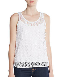 Vince Camuto Paillette Eyelet Top