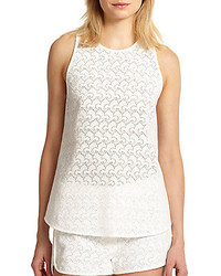 Theory Ellice Cotton Eyelet Tank