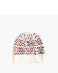 J.Crew Wool Hat In Colorful Fair Isle