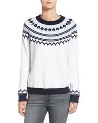 Amour Vert Fiona Nordic Merino Wool Sweater