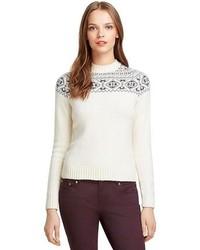 Brooks Brothers Long Sleeve Cashmere Fair Isle Sweater