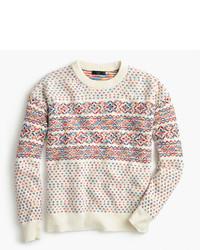 J.Crew Colorful Fair Isle Crewneck Sweater