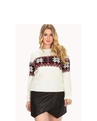 Forever 21 Plus Shaggy Fair Isle Sweater