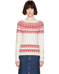 Ivory pink romy aprs ski sweater medium 1102210