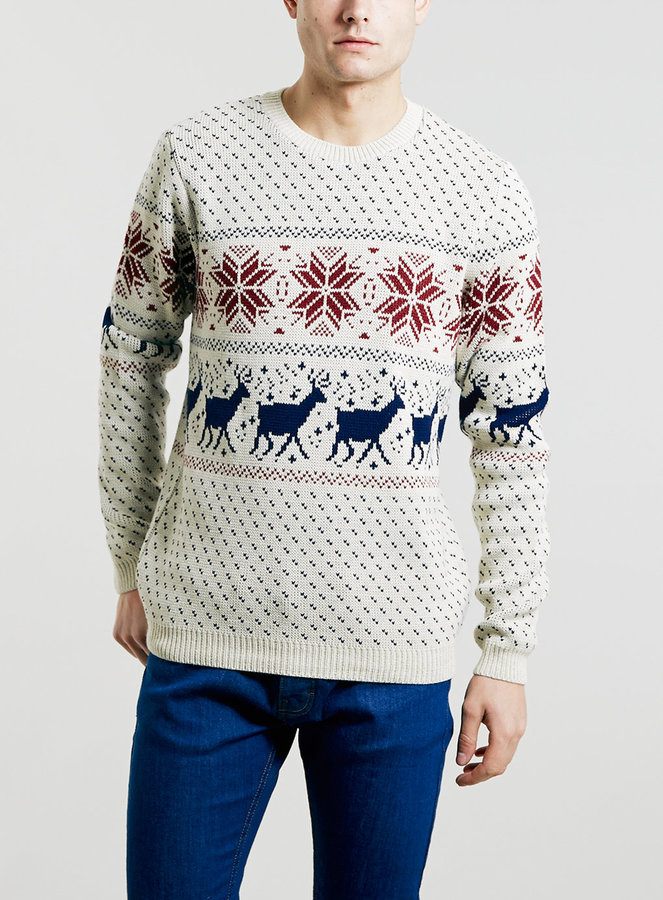 Topman Oat Reindeer Dash Christmas Sweater | Where to buy & how to ...