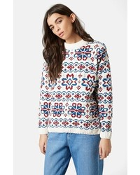 Topshop Boutique Fair Isle Sweater