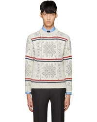 Ivory fair isle sweater medium 757969