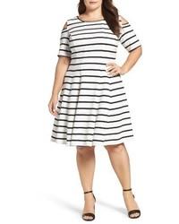 Plus size cold shoulder fit flare dress medium 1195941