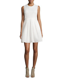 Burberry Sculpted Mesh Fit  Flare Dress White