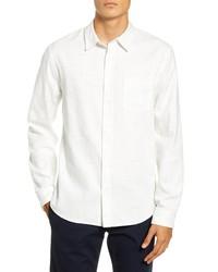 Vince Regular Fit Button Up Flannel Shirt