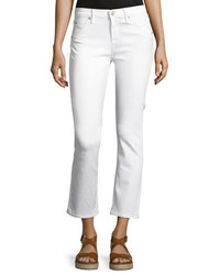 Bailey mid rise baby boot cut crop jeans white medium 3680045