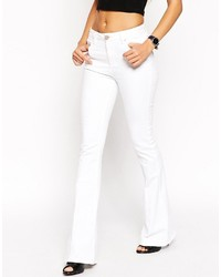 Asos Collection Bell Flare Jeans In White