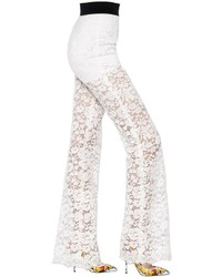 Dolce & Gabbana Flared Cordonetto Lace Pants