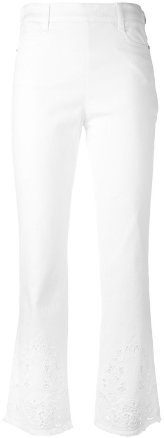 Ermanno Scervino Embroidered Flared Trousers