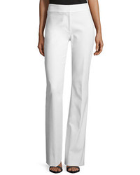 Lela Rose Sam Flare Leg Twill Pants White
