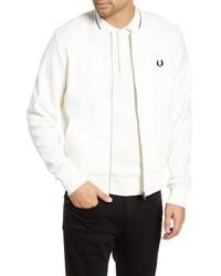 White Fleece Bomber Jacket