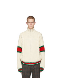 Gucci Off White Cable Knit Jacket